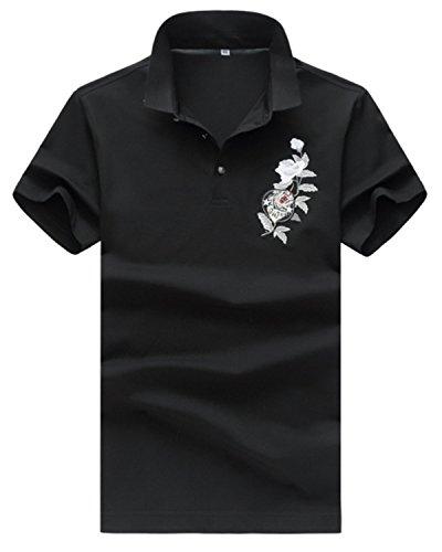 [ファンノシ]Fanessy ポロシャツ メンズ半袖 お洒落な重ね着スタイル ボーダー 涼しい 通気性 速乾性 薄手 吸汗 夏 polo カジュアル スポーツウェア ゴルフウェア シンプル 人気 ファッション カッコイイ メンズTシャツ
