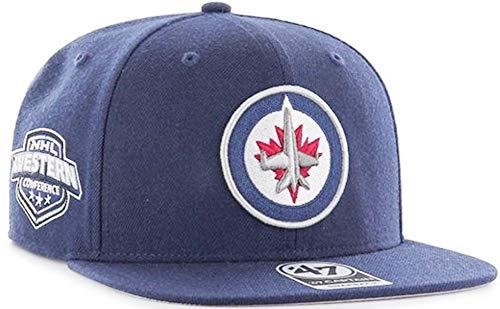 550d8b36aec605 '47 Forty Seven Brand Winnipeg Jets Sure Shot NHL Snapback Cap Navy Limited  Edition. '