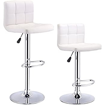 white bar stools costway set of 2 swivel bar stools adjustable 29648