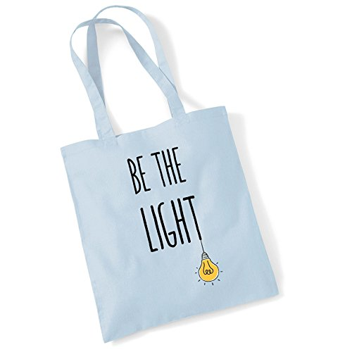 the Women Gifts Printed Cotton Light Pblue Be Shopper For Bag Tote Bags SUWqBnI