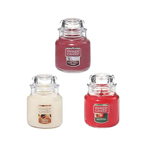 - Yankee Candle Mini Sample Size Classic Glass Jars, Set of 3 Assorted Scents, 3 Inches 3.7 OZ Each