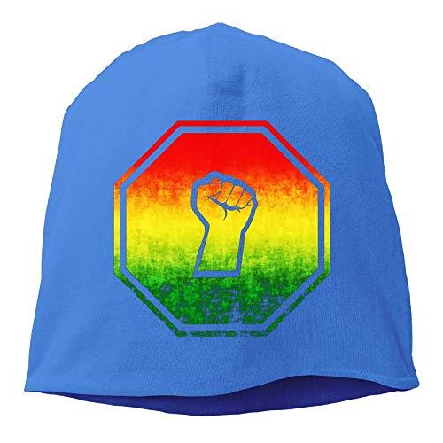 - UI&PPQ54 Unisex Rasta Black Power FIST Soft Stretch Wool Beanies Hat Skull Caps