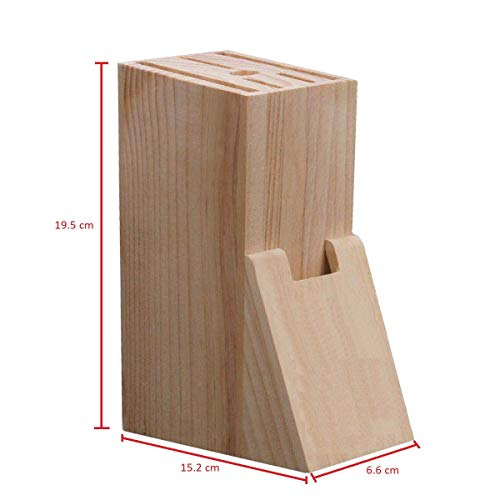 Zaynaaz Knife Block – 7 Slot Wooden Knife Block – Kitchen Knife Holder for Kitchen Accessories