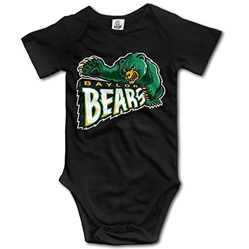 Price comparison product image OOKOO Baby's Baylor University Bears Bodysuits Black 24 Months