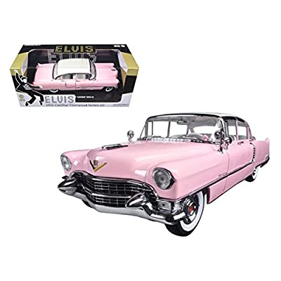 "1955 Pink Cadillac Fleetwood Series 60 Special ""Elvis Presley"" 1/18 Model Car by Greenlight: Home & Kitchen"