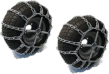 Utility Vehicles UTV Mowers /& Riders Lawn /& Garden Tractors ATV Pair of 2 Link Tire Chains /& Tensioners/ 20x10.5x12/ for Snow Blowers 4-Wheelers The ROP Shop
