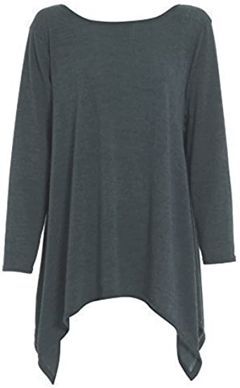 Ladied Lagenlook Sweater Top Womens Long Sleeve Jumper V Neck Baggy Fine Knitted