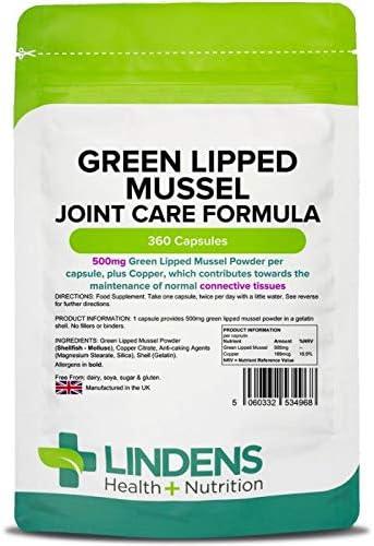 Lindens PERNA canaliculus 500mg cápsulas 360 PACK UK Fabricante ...