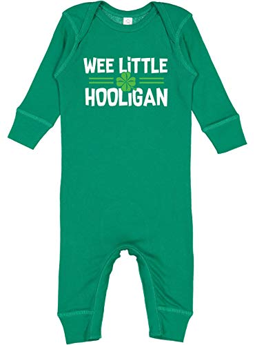 Baby Boy St Patrick#039s Day OnePiece Long Sleeve Romper Outfit | Wee Little Hooligan 6M 36 Months Kelly Green