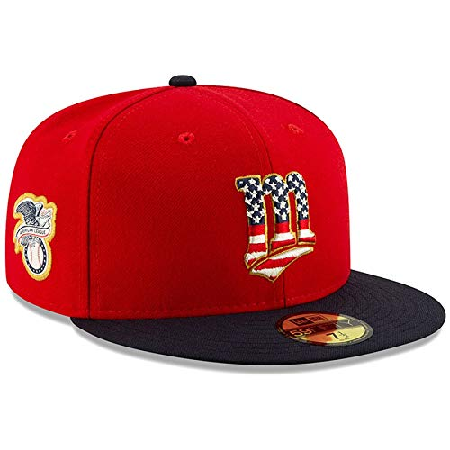 New Era Men's Minnesota Twins 2019 Stars & Stripes 4th of July On-Field 59FIFTY Fitted Hat (7 1/2)