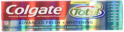 Total Advanced Fresh Toothpaste (Colgate Total Advanced Fresh Whitening Gel Toothpaste, 5.8-Ounce (Pack of 6))