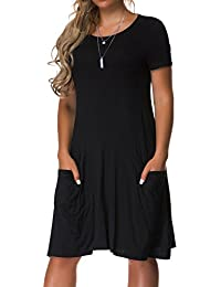 Women's Plus Size Casual Loose T Shirt Mini Dress with...