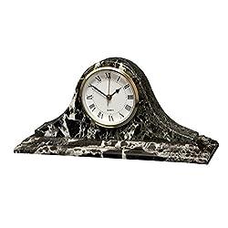 Saturn clock Black Zebra Marble (BZ)