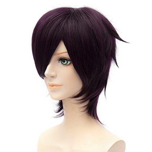 Pokemon Misty Costume (GOOACTION 30cm Short Dark Purple Anime Cosplay Wigs GINTAMA Takasugi Shinsuke Costume Party Hair)