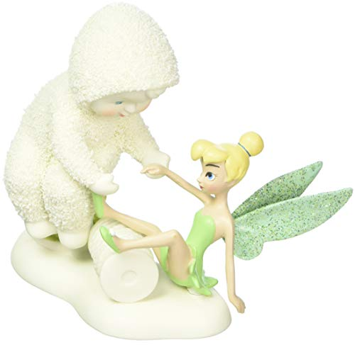 "Department 56 Snowbabies and Disney's Tinker Bell ""A Helping Hand"" Porcelain Figurine, 4"""