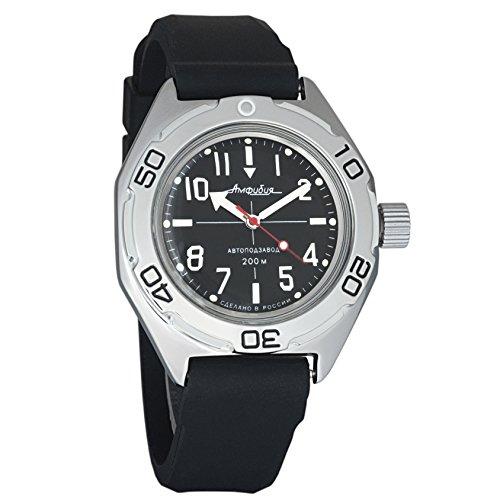 Resin Dive Case Watch (Vostok Amphibian Automatic Mens Wristwatch Self-Winding Military Diver Amphibia Case Wrist Watch #670647 (Resin))