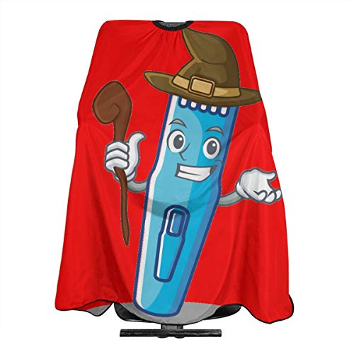 Halloween Witch Red Machine Electric Trimmer Hairdresser Hair Stylist Haircut Cover Salon Barbering Cape Shop Accessories Styling Cutting Kit Professional Pare Estilista Barbero Adults Capa -