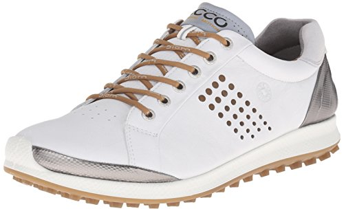 ECCO Men's Biom Hybrid 2 Golf Shoe - White/Mineral - 8-8....