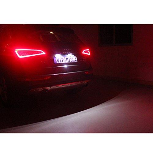Wefie Coppia di luci LED della targa per A3/8P A4/B6/B7/A6/Q7/luce targa