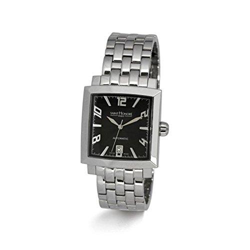 Reloj hombre automático Saint Honoré modelo Orsay negra y plateada - 897127 1 NBF: Amazon.es: Relojes
