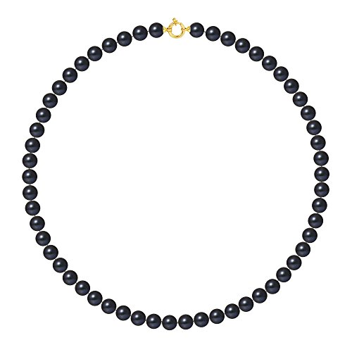 Pearls & Colors - Collier multi rangs - Or jaune 9 cts - Perle d'eau douce - 50 cm - AM-9CC 99-50-AMLJ-BL