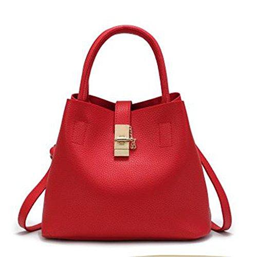 Vintage Women's Handbags Candy Shoulder Bags Ladies Totes Simple Trapeze Women Messenger Bag red send free gift