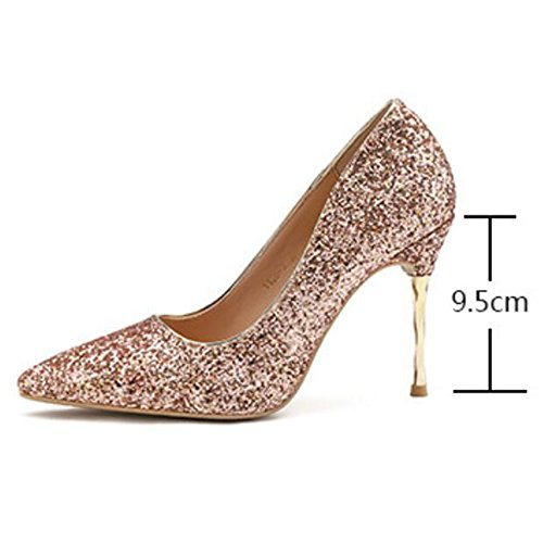 Tip Blanc Slim Mme Le Paillettes Discothques De Banquet Chaussures Maigres Sexy Pour Voyage Escarpins Talons Sandales Datant Pompes 1xFdpwxT