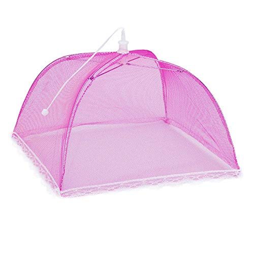 Hisoul Food Cover Tents - Collapsible and Washable Pop Up Mesh Screen Food Cover Tents Picnic BBQ Plate Umbrella Protector - Food Protector Tent Keep Out Flies, Bugs, Mosquitoes (Random) by Hisoul (Image #3)