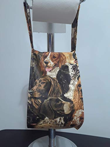 Sporting Hunting Dogs Print Fabric Spare Bathroom Tissue Holder -