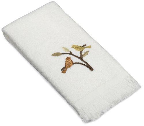 Avanti Linens Friendly Gathering Fingertip Towel, White