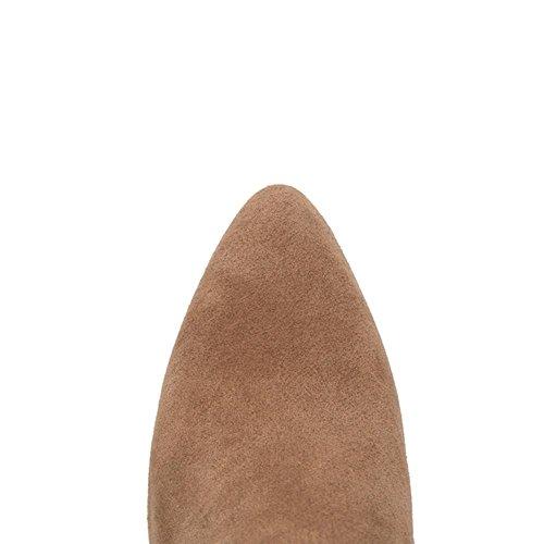 tacco stagioni Beige corta 41 stivali di nero punta grosso usura donne gomma Resistant Grigio H Skid e Beige a HQuattro 5UqvwY