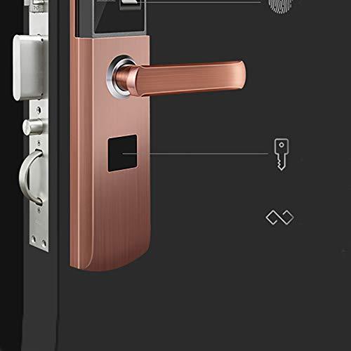BLWX - Smart Lock-Stainless Steel+zinc Alloy-Fingerprint Lock Home Security Door Lock Password Lock Electronic Lock Door Lock Card Magnetic Card Lock-Size: 357X80X68mm Door Lock (Color : B) by BLWX-home renovation. Door lock (Image #8)