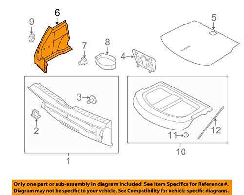(Volkswagen VW OEM 13-17 Beetle Interior-Rear-Wheelhouse Trim Right)