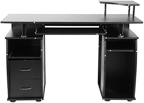 zerone Escritorio Mueble de Escritorio para Ordenador Negro, Mesa ...