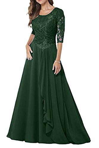 Festkleider Chiffon Spitze Lang Damen Bainjinbai Abendkleider Kleider Elegant Brautmutter Green Stw8qwICTx