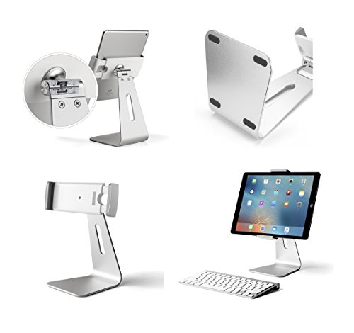 Pleasant Abovetek Elegant Tablet Stand Aluminum Ipad Stand Holder Desktop Kiosk Pos Stand For 7 13 Inch Ipad Pro Air Mini Galaxy Tab Nexus Tablet Mount For Home Interior And Landscaping Palasignezvosmurscom