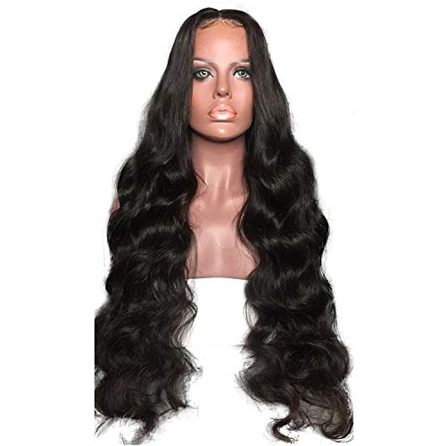 PrePlucked Human Hair Lace Front Wigs With Baby Hair 180% Density 136 Deep Part Natural Non-remy Hair For Women,Natural Color,16inches