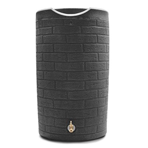 Good Ideas IMP-D50-DAR Impressions Downton Rain Saver Rain Barrel, 50 gallon, Dark Granite
