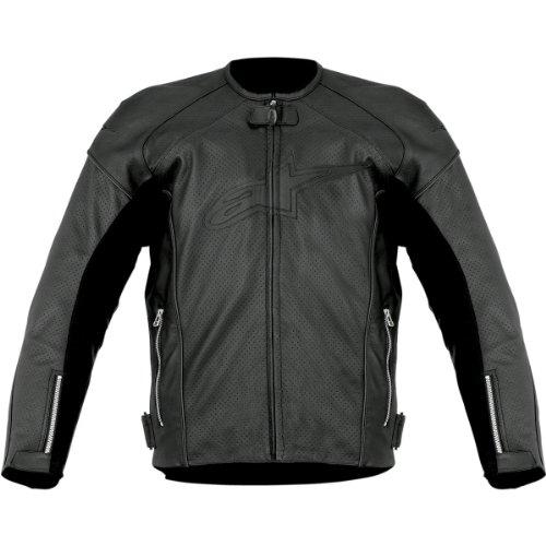 Alpinestars TZ-1 Reload Perforated Leather Men's Riding Jacket (Black, Size - Alpinestars Tz1 Jacket Leather