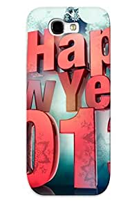 New Arrival Happy New Year 3d For Galaxy Note 2 Case Cover