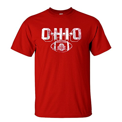 Elite Fan Shop Ohio State Buckeyes T-Shirt Vintage Football Red – DiZiSports Store