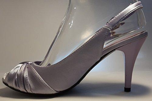 3-W-Hohenlimburg - Zapatos de vestir para mujer Purple mit Schleife.
