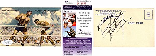 - Jack Dempsey Signed - Autographed Boxer Vintage 3x5 Inch Index Card - Deceased 1983 - Certificate of Authenticity - JSA Certified