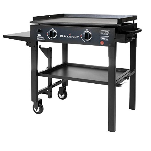 Blackstone 28 in 2-Burner Propane Gas Grill in Black with Gr