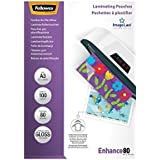 Fellowes 5306207 Pochettes de Plastification Brillantes ImageLast A3 80 Microns - Paquet de 100