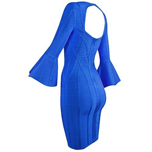schwarz blau Blau HLBCBG Kleid Damen XS PSHqUzxq