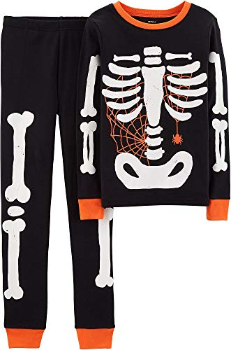 Carter's Baby Boy Girl Halloween Glow-in-The-Dark Costume Pajamas PJs (6), Black]()