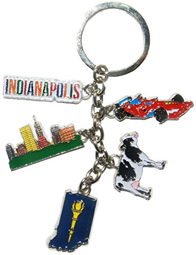 - Indianapolis 5 Charm Keychain- featuring Indy 500