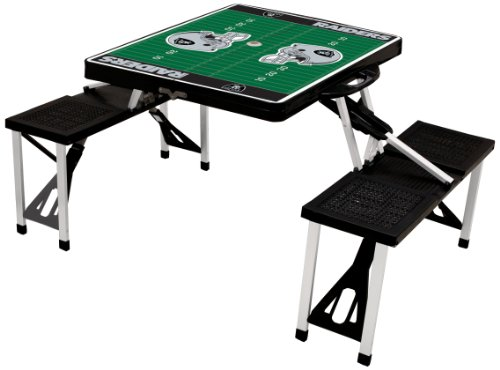 - NFL Oakland Raiders Football Field Design Portable Folding Table/Seats, Black