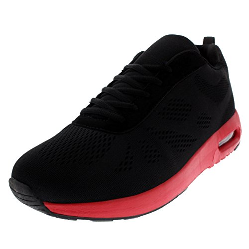 Bubble Black Absorbing Walking Fit Womens Running Trainers Gym Sports Red Black Get Shock Air Lightweight p1IqyR